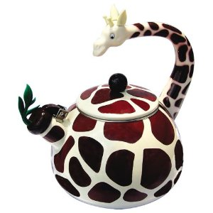 For a  little girls or boys plush animals day tea party - I love unique and collectible teapots and tea kettles like this giraffe
