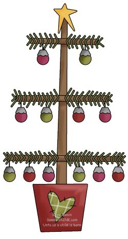 The Sandwich Generation Granny Nanny loves this cute country Christmas tree clipart