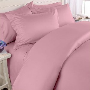 The Sandwich Generation granny nanny loves these pink Egyptian Cotton sheets - 600 thread count equals soft