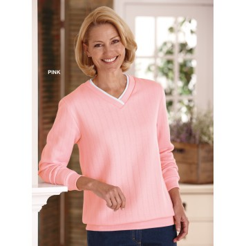 Love Blairs pink fleece including this sweatshirt but black is better for the hospital for the Sandwich Generation
