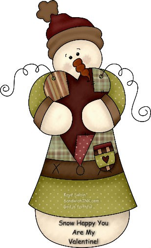 Happy Valentines Day Holidays snowman clip art for the Sandwich Generation dealing with the issues of babysitting grandchildren while caring for the elderly parents.jpg