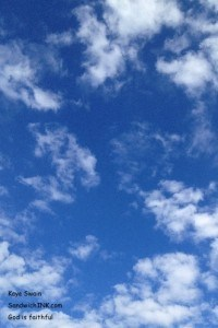 The Sandwich Generation granny nanny loves playing outside with the grandkids when the skies look this lovely