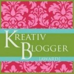 kreativ blogger award via Simply Sandwich and SandwichINK for the Sandwich Generation
