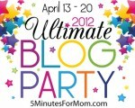 Ultimate Blog Party 2012 and the Sandwich Generation is invited - its a great way for those of us caring for aging parents while babysitting grandchildren to enjoy blog party fun right at home