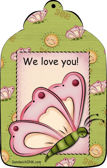 A lovely butterfly bookmark for the special women in our Sandwich Generation lives from SandwichINK