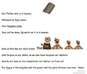 The Lord s Prayer - Encouraging Bible memory verses for children