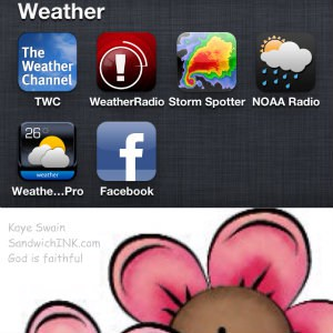 Love these very helpful weather iPhone apps and the cute country clipart for Pink Saturday for the Sandwich Generation