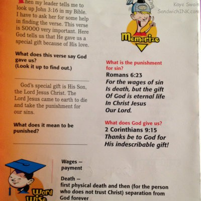 Our Sandwich Generation grandkids love learning encouraging Bible memory verses at Awana