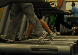Treadmills can provide fun and healthy exercise for seniors - public domain photo from U.S. Air Force