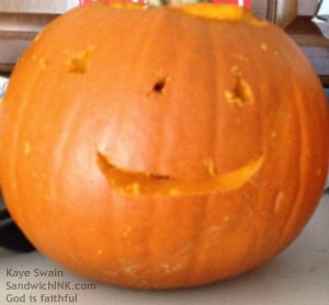 Cute and small little grandchild pumpkin man - Sandwich Generation granny nanny loves them ALL  f
