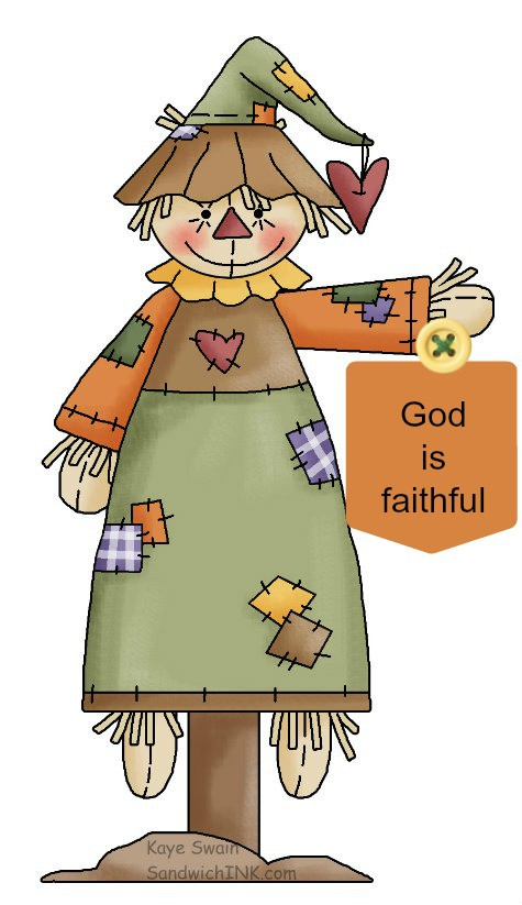 Cute autumn scarecrow country clipart for grandkids and trick or treaters si verse