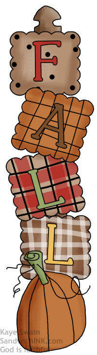 Fall with RED in this cute country clipart for REDNESDAY for the Sandwich Generation