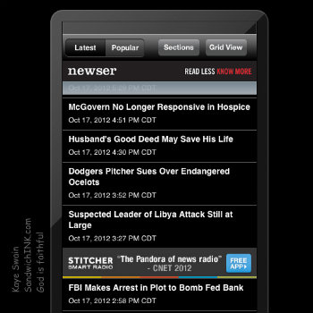 Newser is one of my favorite news apps for the iphone and iPad