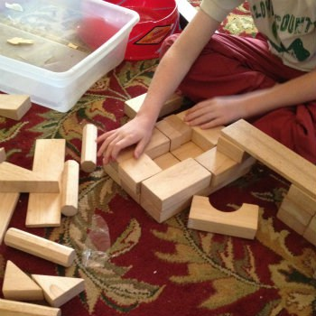 Wood blocks are fun for grandkids