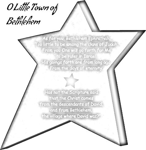 O Little Town of Bethlehem for the Sandwich Generation - cute country Christmas coloring page from clipart