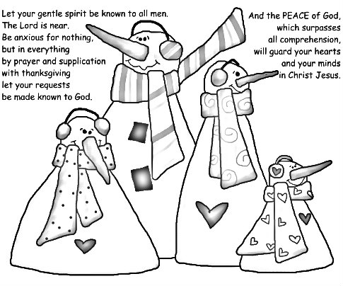 Enncouraging Bible verses with cute country snowman clipart to encourage our grandchildren