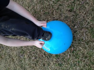 My grandkids and I enjoyed the brief moments of warm weather with ball tag and two square