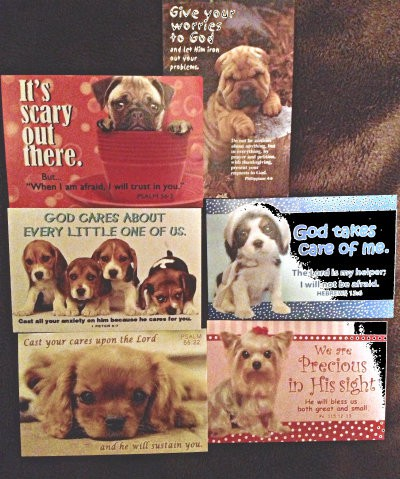This Sandwich Generation granny nanny and grandkids LOVED these cute dogs and their encouraging Bible verses