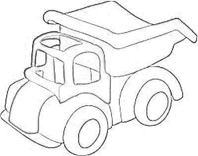My grandson will LOVE this cute truck coloring page - how about your grandkids