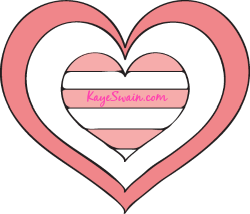 Pink Hearts for Pink Saturday from Kaye Swain Grandmother and REALTOR