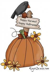 Happy Harvest and Happy Halloween greetings from Kaye Swain Grandma Caregiver Sandwich Generation Baby Boomer and REALTOR