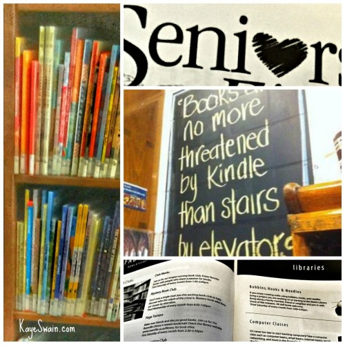 Great resources for all ages including boomers and seniors at most libraries via Kaye Swain in Roseville CA