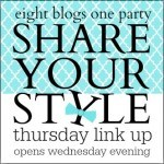 Kaye Swain Real Estate agent and blogger in Roseville CA visits Share Your Style via The Vintage Nest Blog on Wednesday