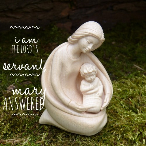 Christian words of encouragement from Mary for Christmas via Real Estate Agent blogger Kaye Swain