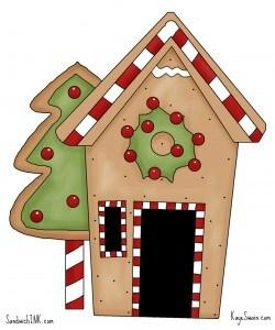 Gingerbread house cookies from Roseville CA real estate agent blogger Kaye Swain