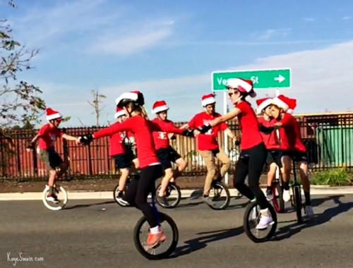 Roseville CA parade had great team of unicyclists via Kaye Swain real estate agent blogger.jpg