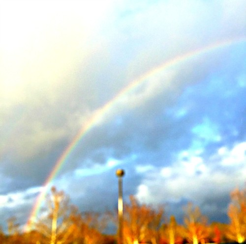 Christian blogger REALTOR Kaye Swain sharing Rainbow spotted at Bayside Granite Bay near Roseville in Sacramento area