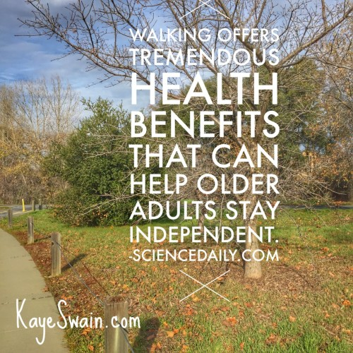Kaye Swain Roseville CA real estate agent blogger recommends our walking trails to stay healthy and enjoy aging in place for boomers and seniors and all ages including grandkids