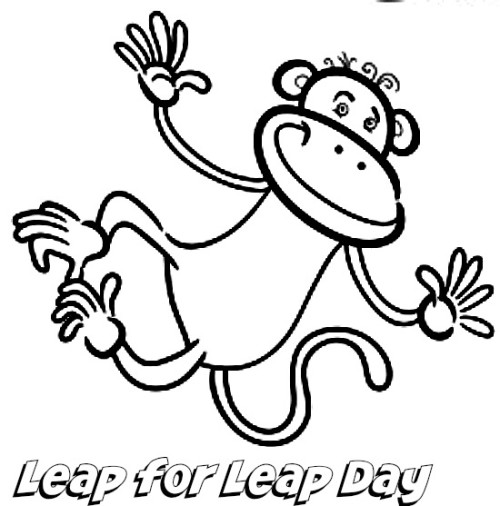 Kaye Swain REALTOR Grandparent Roseville Sacramento blog shares Leap Day Coloring page
