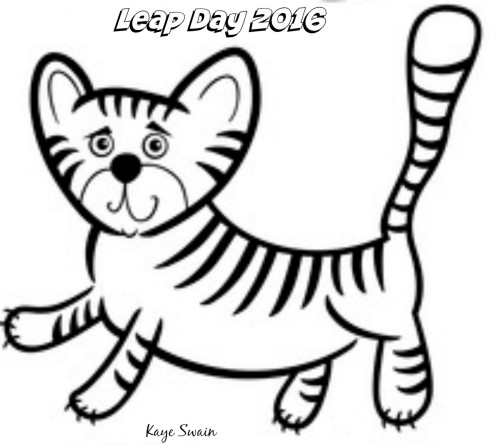 Kaye Swain Roseville Sacramento real estate agent blogger says Happy Leap Day Leap Year 2016 coloring page