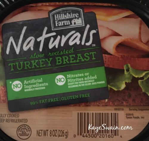 Healthy eating lunch tip Hillshire Farm Natural turkey breast via Kaye Swain Roseville CA