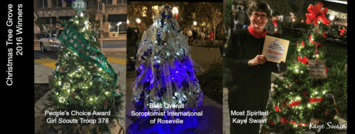 Kaye Swain Roseville REALTOR shares Christmas Tree winners