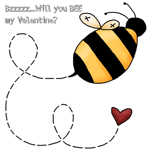 Busy Bee valentines Kaye Swain Roseville Real Estate Agent Blogger Grandmother