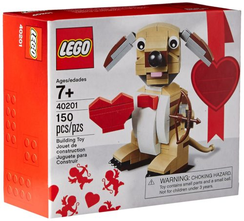 Cute Valentines Day LEGO Dog kids grandkids