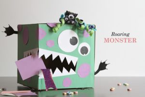 Kaye Swain Roseville Real Estate Agent Grandmother Caregiver sharing adorable Monster Valentine Box