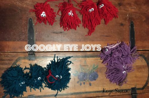 Kaye Swain Grandkids loved googly eyes BEST