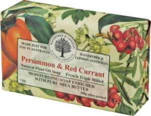 Wavertree Persimmon and red currant soap can fight elderly senior smells due to nonenal