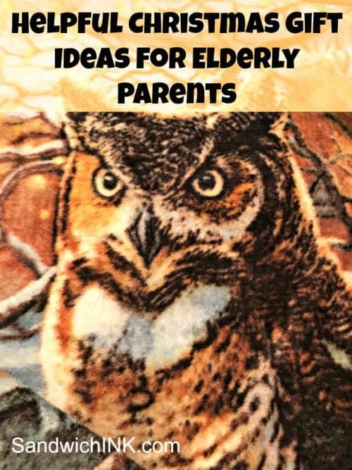 Christmas gift ideas for elderly parents include plush polyester blankets like this adorable owl throw