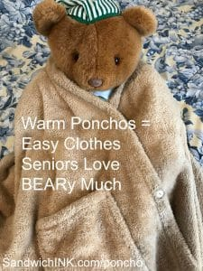 Easy clothes seniors love include beary warm hugs