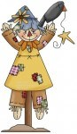 This cute country fall scarecrow and crow clip art can remind our grandkids - do not steal