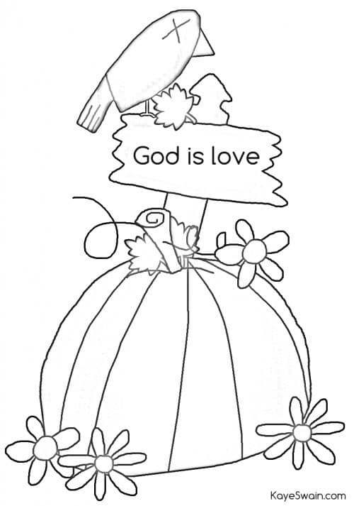 Autumn joys include swimming grandkids crafts and more for Christian fall coloring pages