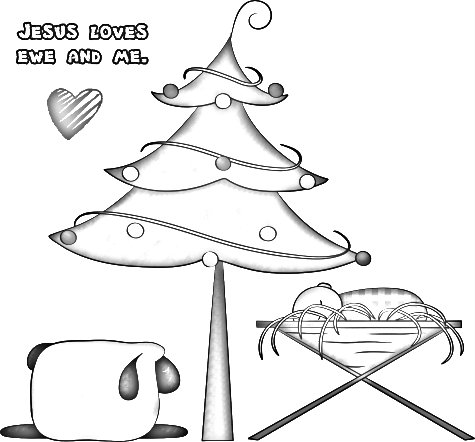 Three fun christmas coloring pages for your grandkids to for Jesus is the reason for the season coloring pages