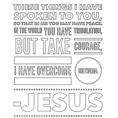 Scripture Pix and Coloring Page of Encouragement for the Sandwich ...