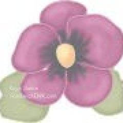 This Sandwich Generation Granny Nanny loves pretty purple pansy flowers as clip art - on lovely plates - and in real life as one of her senior moms gardening projects