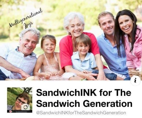 SandwichINK for the Sandwich Generation multigenerational caregiver and grandparent on Facebook