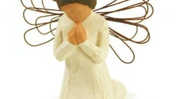 Love to buy Willow Tree angel figurines as gifts and this one is a great reminder to the Sandwich Generation to pray without ceasing